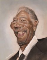 Morgan Freeman Caricature by jonesmac2006