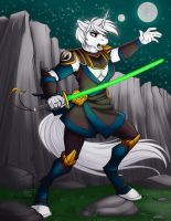 Ultimawolf0 Jedi YCH commission colors by Ralloonx by lady-cybercat