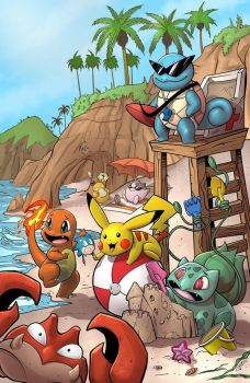 Pokemon Beach by SiriusSteve