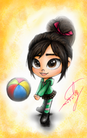 volleyball - Vanellope (colored) by summilly