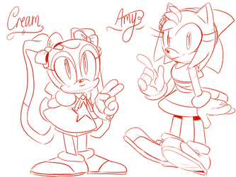 Amy Rose n' Cream by Mangaanonymous