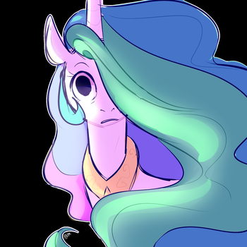 Scared Celestia by chandelurres