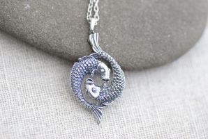 Pisces Fish Necklace by MonsterBrandCrafts