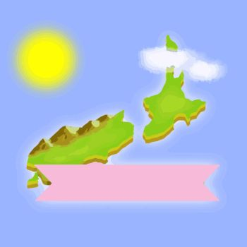 THE BACKGROUND RIBBON IS A NEW ZEALAND ISLAND by Dubov0