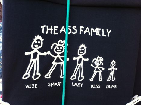 the ass family shirt by AmerockinGyrl