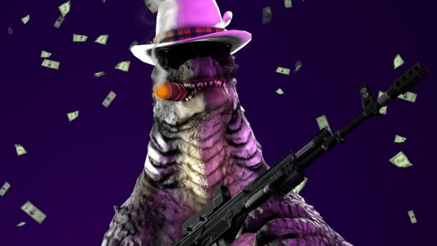 Godzilla Pimping out by TheImperialCombine
