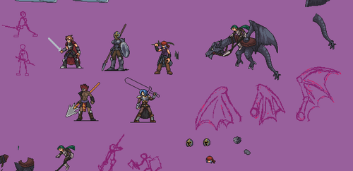 rpg sprites work in progress (WIP) by inazumathelightning