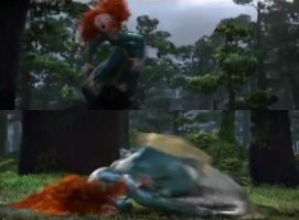 Princess Merida falling down by PrincessMeridaFan