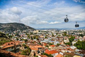 Tbilisi - aerial view by Rikitza