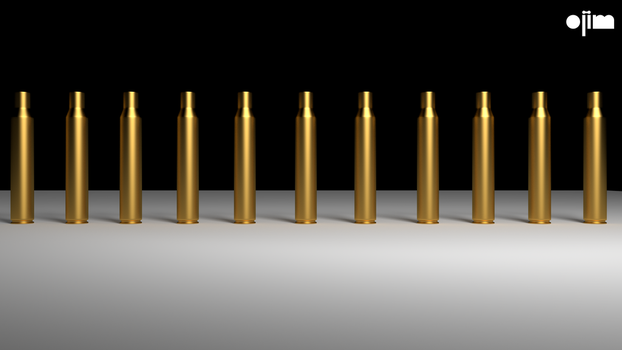 Shell Casings Alligned by ojim-Designs