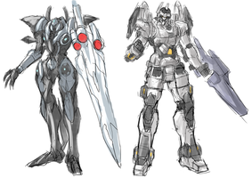 Mecha Design Line up by Frost7