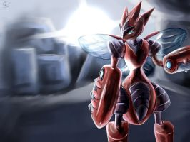 Scizor - Bug-Type Dynamo! by RoyaleMay