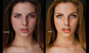 Glamurous before and after by BlackNinfaQueen