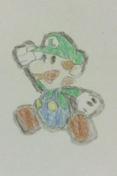 Paper Luigi Time! by Nintendofan364