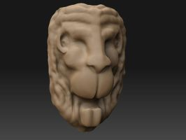 WIP - Lions head by Elhith