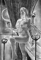 Emma Frost White Queen Art by Rafaschneider2016art