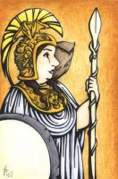 Without Man - Athena by rachelillustrates