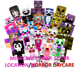 Minecraft Fnaf: Sister Location Characters by NightmareBear87