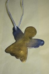 Polymer Clay Cookie Cutter Angel Ornament by LostGryphin