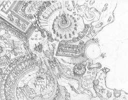 Playmat- city-side pencils by Dreamkeepers