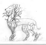 Commission #1: A Ivy Deer for VoliaDionysia by SnowyKatLovesArt