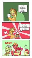 No apples for breakfast (ATG Day 24) by VeryComicRelief