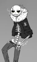 Gaster!Sans (Art trade with Ethai ) by shion396