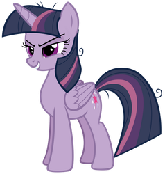Mean Twilight Sparkle Smiling Evilly by AndoAnimalia