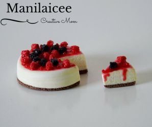 Dollhouse miniature food cheesecake by Manilaicee