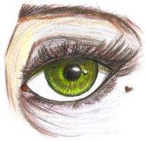 Eye drawing practice by DragonetteTheDragon