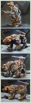 Steampunk Bear Fighter Zoid Custom by AuroraLion
