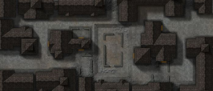 Mordheim Map 3: The Street Fight by Blazbaros