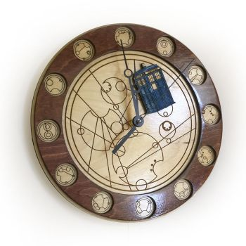 Through all of Space and Time Doctor Who Clock by Athey