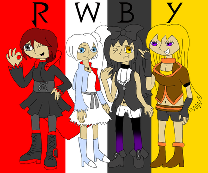 The Girls of RWBY by TyrannosaurusRex-123