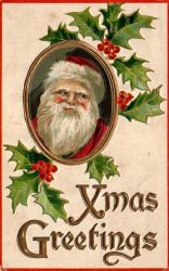 Rosy Cheeked Santa by Yesterdays-Paper