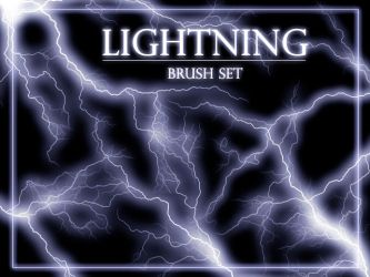 Lightning brush set by gvalkyrie