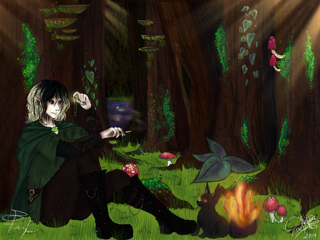 Ruki and Koron (LOTR style) - Collaboration by ParanoiaGod69