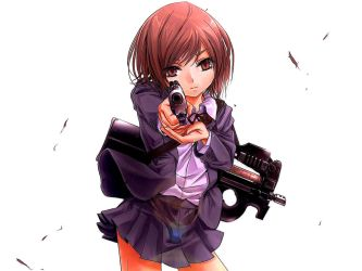 22716 Anime Girls Anime Girls With Guns Edited by nayster24