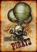 Steampunk Airship Pirate Crest by TerryLightfoot