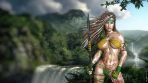 Rogue (Savage Land) 2017 -WALLPAPER IRAY VERSION by neoanderson79
