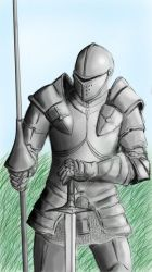 Late 1400's knight by Jcecire