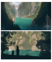 SCOW: Suihira concept sketches by ArtByRiana