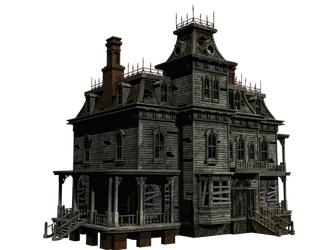 Haunted House 05 PNG Stock by Roy3D