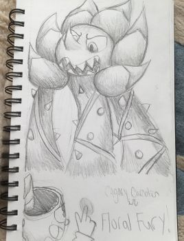 Cagney Carnation in Floral Fury! by MyMyDraws3