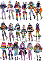 CLOSED-Lisa Frank inspo outfits by Guppie-Vibes
