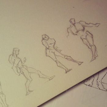 Figure Drawing Practice - 02 by LizzVisions