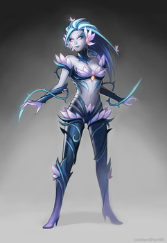 zyra skin concept by justduet
