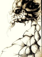 Sepia Dragon by wtfevenisthis