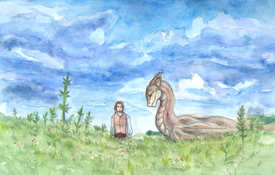 Aidan and Serik in the Field by CyanilurusJubatus