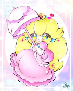 Princess Peach by xxMiniPandaxx